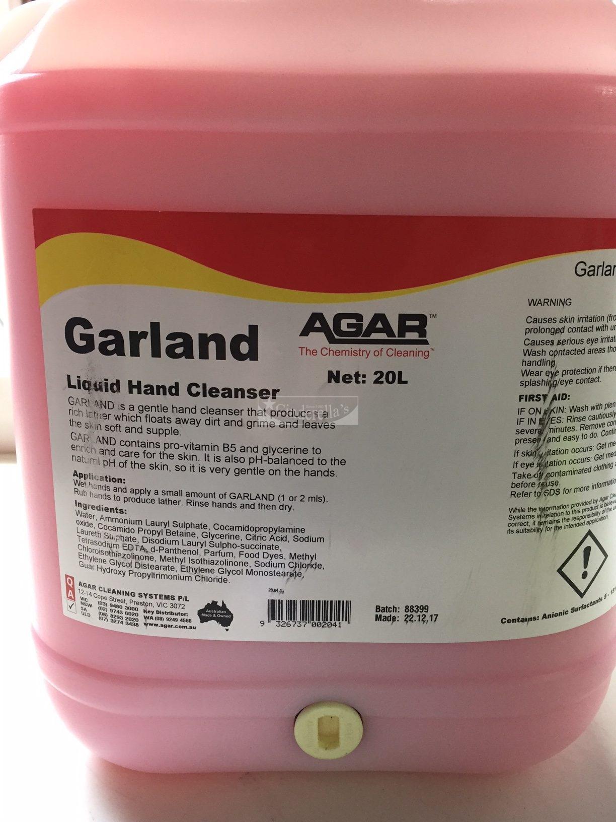 Agar Garland Liquid Hand Cleanser 20Ltr
